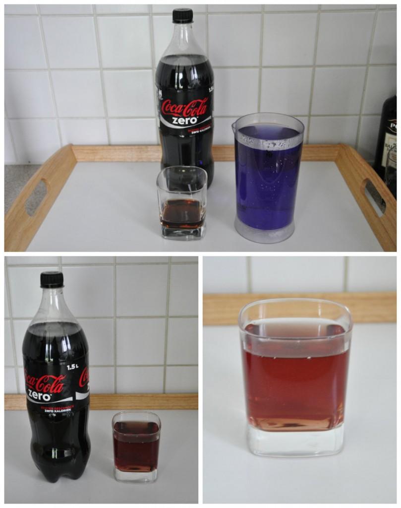 jus de chourouge mélangé avec coca