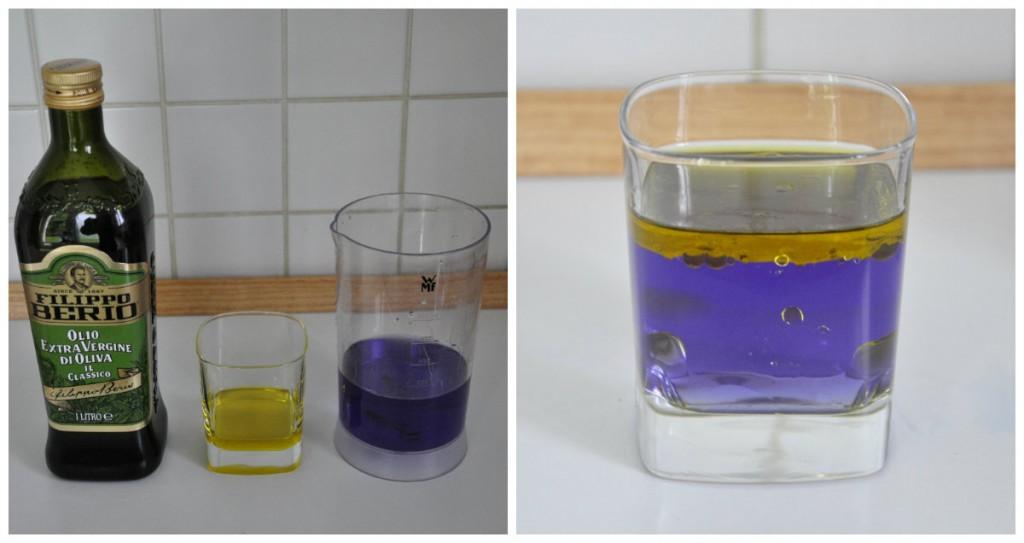 jus de chourouge mélangé avec huile