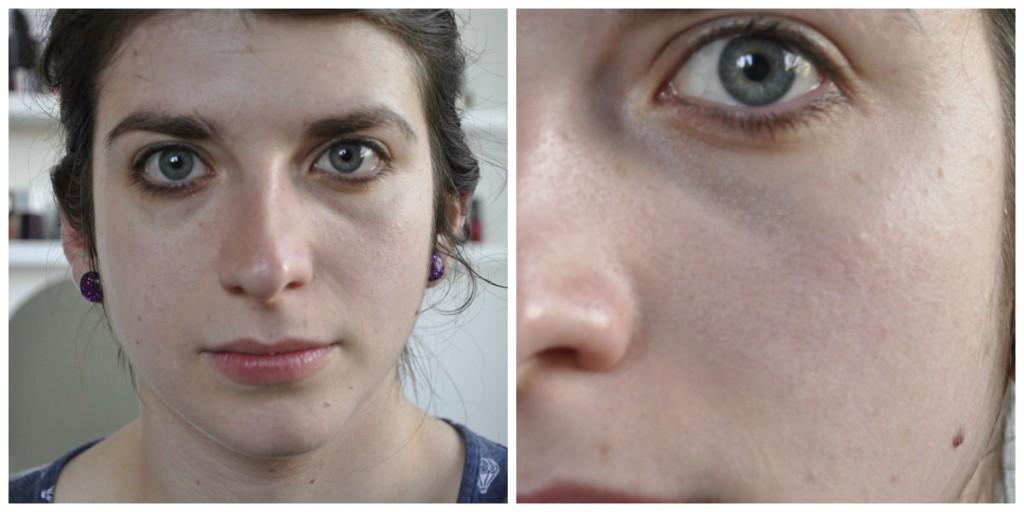 collage - peau démaquillée
