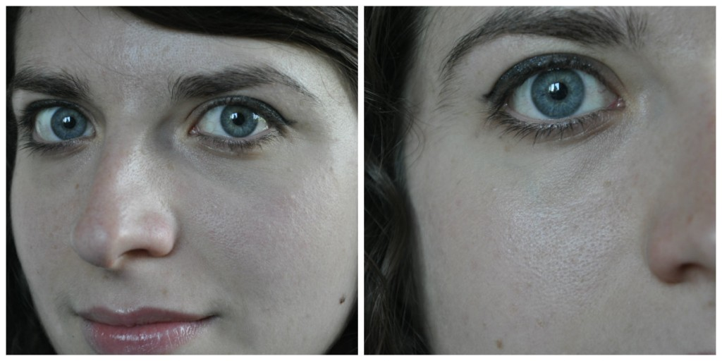 collage - peau maquillée