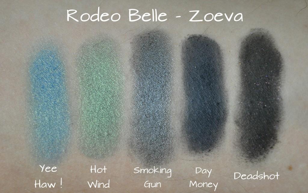 rodeo belle zoeva palette swatch deuxième rangée
