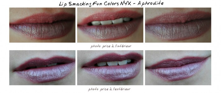lipstick aphrodite nyx swatch outside extérieur into intérieur