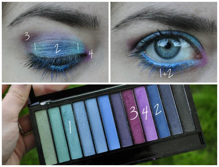 maquillage palette makeuprevolution mermaids vs unicorns