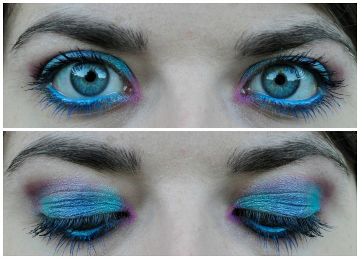 makeup palette makeuprevolution mermaids vs unicorns swatch