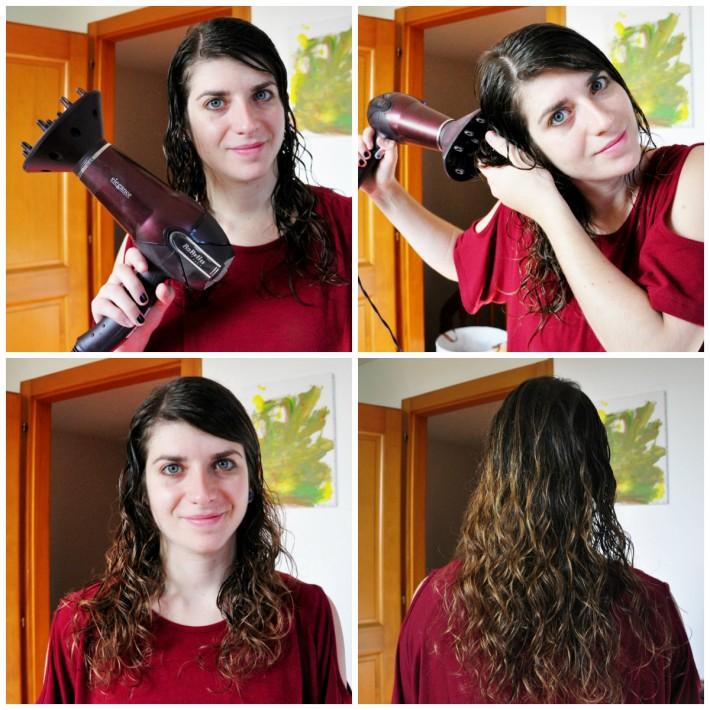sécher cheveux bouclés diffuseur chaleur
