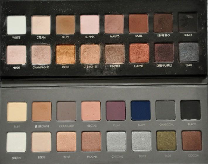 lorac pro palette différence 1 et 2