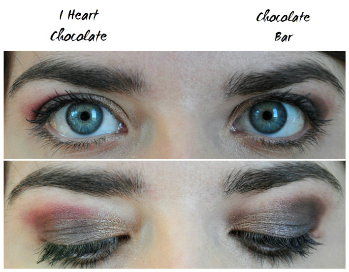 Premier maquillage chocolate bar différence I Heart Chocolate