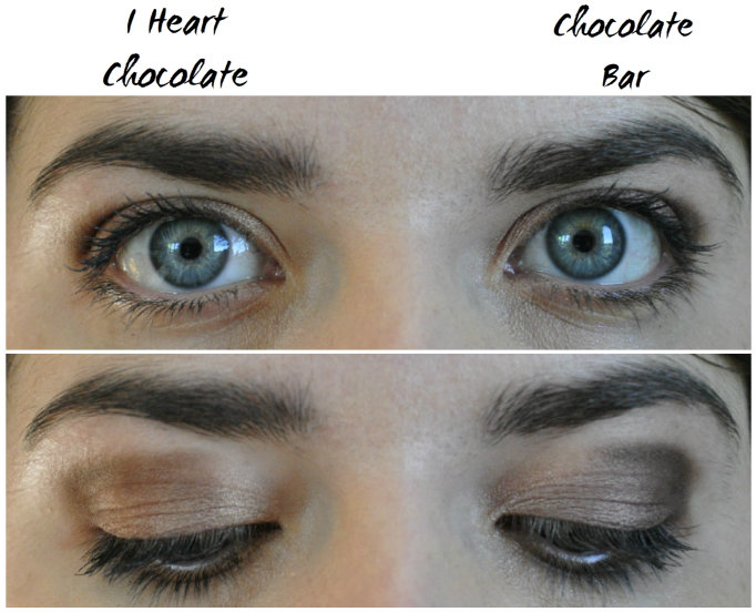 deuxième maquillage chocolate bar différence I Heart Chocolate
