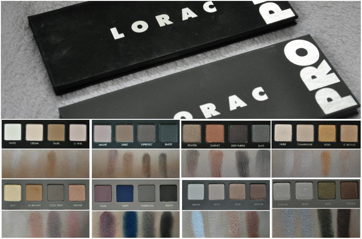 palette lorac pro et lorac pro 2 différences et swatches