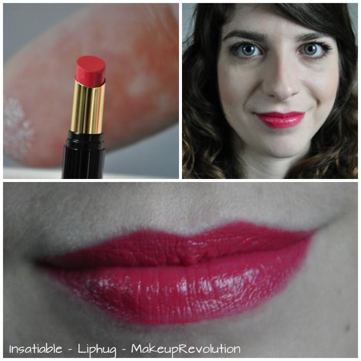 insatiable liphug makeuprevolution swatches reglisse et myrtilles