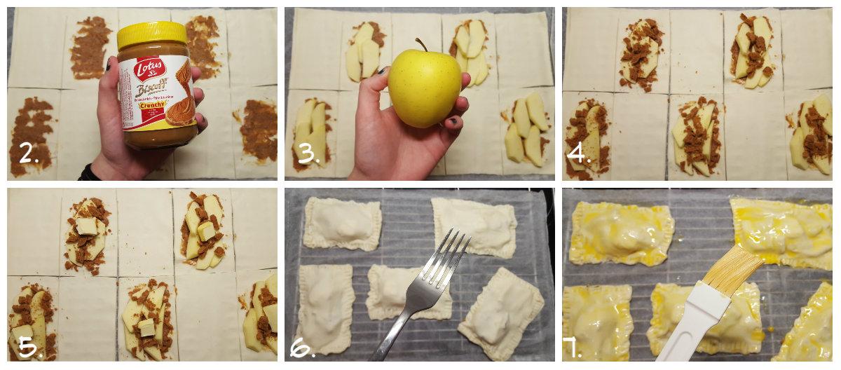 recette feuilletés speculoos pomme