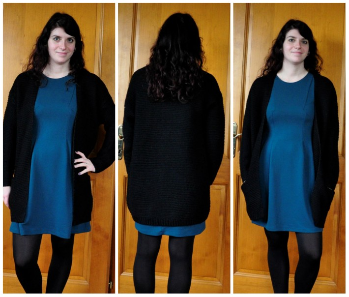 robe et gilet grosses mailles