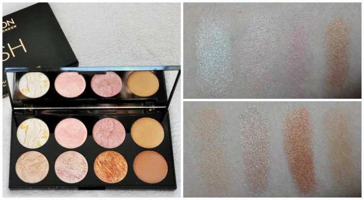 swatches palette golden sugar ultra blush makeuprevolution