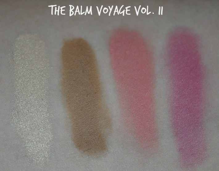 the balm swatches teint balm voyage volume 2