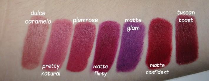 swatches_lipstick_milani_rouges à lèvres_reglisse et myrtilles
