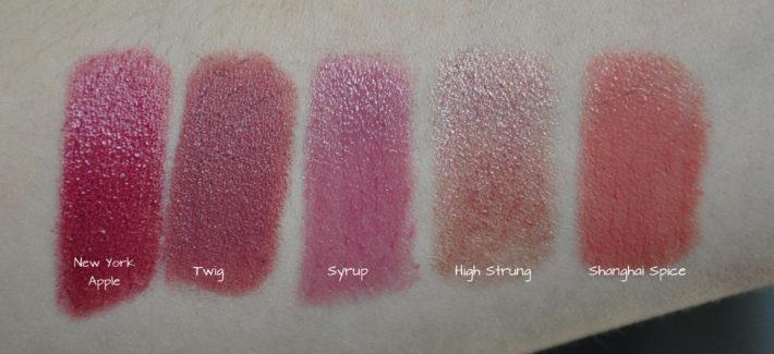 mac_lipstick_swatch_twig_new_york_apple_high_strung_syrup_shanghai_spice