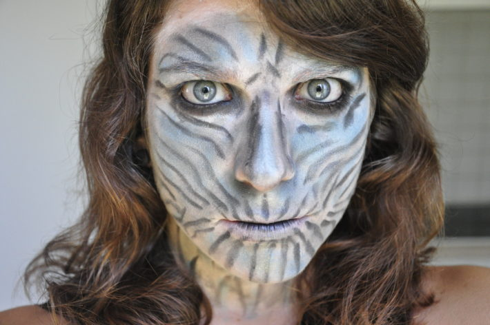 white walker makeup maquillage games of thrones