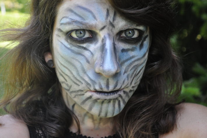 white walker makeup maquillage game of thrones