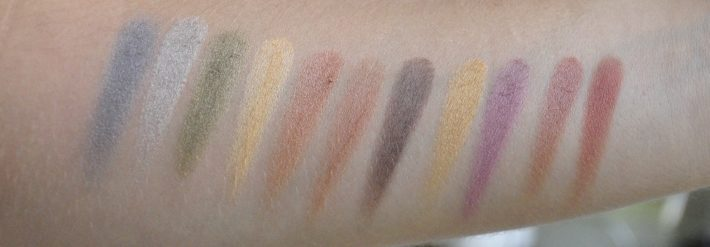 swatches palette warm colours charmeup