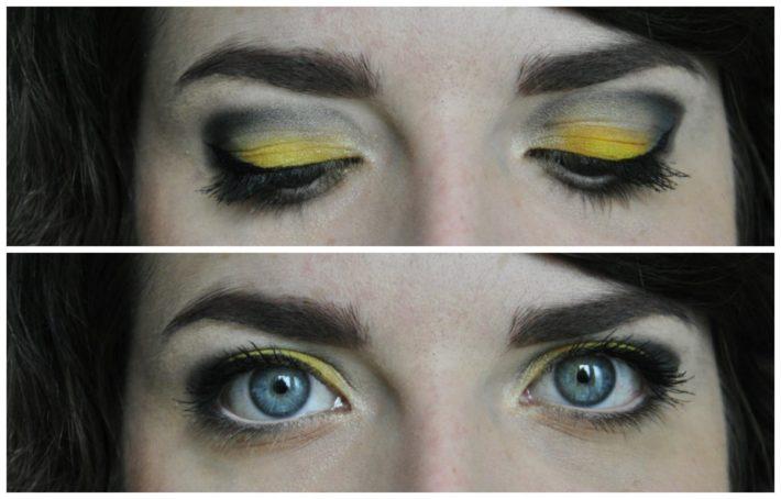 maquillage aux couleurs du ciel